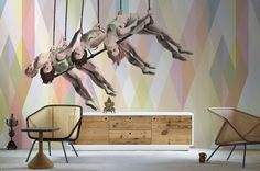 Wallpaper Model WE ARE THE PEOPLE Designed by Alba Ferrari & Riccardo Zulato for Collection 14 |  © London Art 2014  www.londonartwallpaper.com www.londonart.it