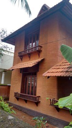 Indian Home Design, Indian Home Interior, Kerala House Design, Home Interior Design, Village House Design, Village Houses, Mud House, Courtyard House Plans, Kerala Houses