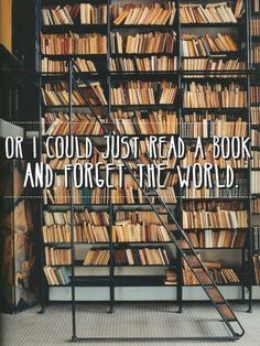Or I could just read a book and forget the world.