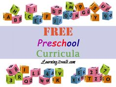 #free #preschool curricula  Some of these I knew before hand but the majority were all new. You learn a little more each day.