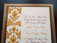 #Gold #WeddingInvitation