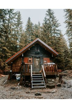 Rustic cabin living has never looked so chic - interiors on HOUSE by House & Garden. Tiny Cabins, Tiny House Cabin, Log Cabin Homes, Cabins And Cottages, Log Cabins, Rustic Cabins, Cabins In The Woods, House In The Woods, Future House