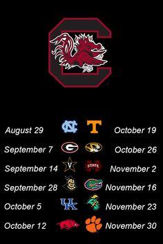 2013 South Carolina Gamecocks football schedule