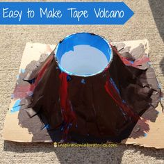 Tape Volcano Easy to Make Tape Volcano - a fun way to play with baking soda and vinegar!Easy to Make Tape Volcano - a fun way to play with baking soda and vinegar! Volcano Science Projects, Science Activities, Activities For Kids, Science Experiments, Science Crafts, Science Ideas, Creative Activities, Educational Activities, Classroom Activities