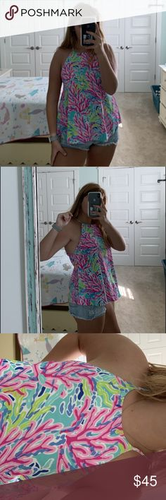 Lily Pulitzer tank Perf condition worn once! Lilly Pulitzer Tops, Lily Pulitzer, Summer Dresses, Tank Tops, Best Deals, Closet, Shopping, Things To Sell, Style