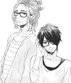 anime fan art , they kind the look like murasakibara n  himuro in KNB