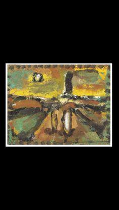 Georges Rouault - Ciel d'automne -  Oil on paper laid down on canvas - 15,2 x 19,2 cm
