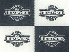 Musicbox-logo-... Typography Logo, Lettering, Brand Identity, Branding, Retro Logos, Dance Music, Logo Inspiration, Lounge, Graphic Design