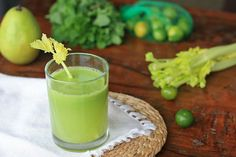 Cucumber, Pear, Celery, Mint and Lime Juice