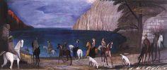 Csontváry Kosztka Tivadar - Lovasok a tengerparton / Riders on the Seashore, 1909 Contemporary Artists, Modern Art, Post Impressionism, Art Database, Hanging Art, Figure Painting, Great Artists, Art History, Art Gallery