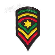 Rasta Star Badge Patch