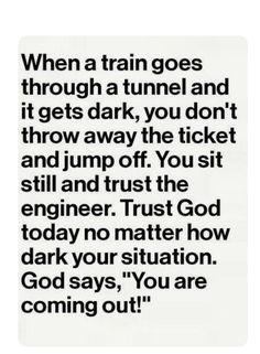 If GOD brings you to it then he'll get you through it🙏🏻