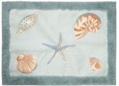 Amazing Breezy Point SEASHELL Shells BEACH Rug BATH Throw Rug Room MAT | EBay