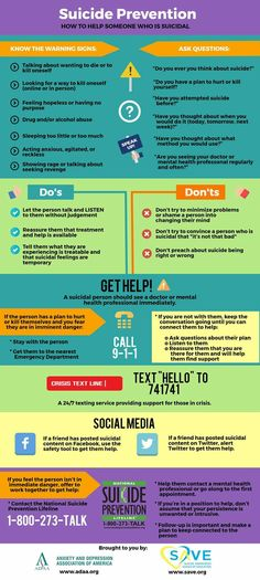 Good tips for suicide awareness and prevention. Mental Illness Awareness, Feeling Hopeless, Understanding Anxiety, Therapy Tools, School Counselor, Social Work, Helping People, Counseling, Infographic