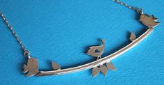 Sterling silver jewelry  Whimsical bird by SilverTemptation, $36.00