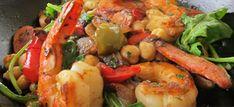 Tiger prawn, Chorizo and Chickpea stew. http://drinksfeed.com/tiger-prawn-chorizo-and-chickpea-stew/ #foodporn