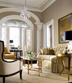 Living Room w/antique Style