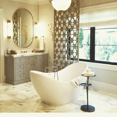 I could live in there forever! #beautifulbathroom #calgontakemeaway by canberrajetclipper Bathroom remodeling ideas.