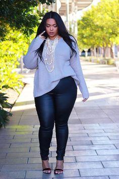 45 casual and comfy plus size fall outfits ideas - addicfashion Curvy Girl Fashion, Look Fashion, Autumn Fashion, Fashion Outfits, Womens Fashion, Fashion Ideas, Fashion Tips, Fashion Trends, Fashion 2018
