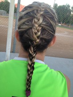 Softball French braid