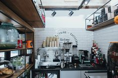 Shops, Espresso Machine, Coffee Maker, Kitchen Appliances, Design, Interior Designing, Espresso Coffee Machine, Coffee Maker Machine, Diy Kitchen Appliances