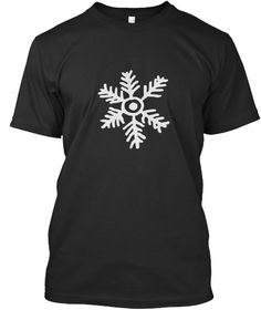 Snowflake And Ice, Tshirt Black T-Shirt Front