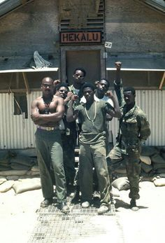 """Black soldiers fighting a war in Vietnam for others to obtain freedom. Ironic because it was concurrent with the Civil Rights movement in which others were fighting to obtain basic human and civil rights for African Americans in the U.S. """"Land of the Free"""""""