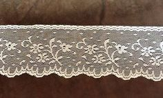 Cream Color  3  Flower Lace   2 3/16 inches   1  Yard