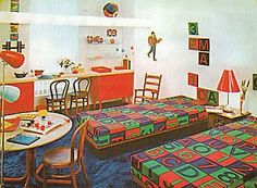 boy's rooms in 1971