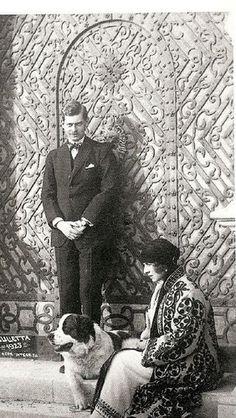 Crown Prince Carol of Romania with his fiancee Princess Elena of Greece