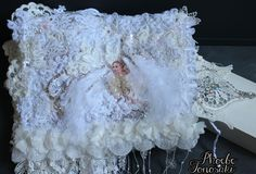 Fabric and lace journal Angels exist. Happniess.  Harder than I thought to make the angel wings. Need more practice!