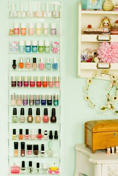 If you have a sizable collection, this will do the trick. You can also add cute figurines (we love Cupcake's Clothes blogger Georgina's Hello Kitty dolls) for a more personal feel. Get the tutorial from Cupcake's Clothes »  - GoodHousekeeping.com