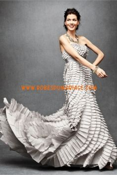 BHLDN Robe de Mariée Style Pli Fantasy Gown