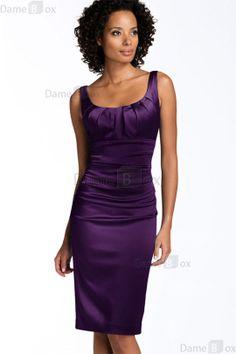 Schaufel-Ausschnitt sexy modernes knielanges Cocktailkleid ohne Ärmeln - Damebox.com