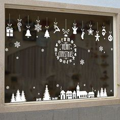 26 Exclusive Christmas Window Decoration Ideas : Page 7 of 26 : Creative Vision Design - Weihnachten Basteln Window Markers, Merry Christmas Background, Christmas Window Decorations, Christmas Window Display, Christmas Chalkboard, Window Art, Window Picture, Chalk Markers, Christmas Night