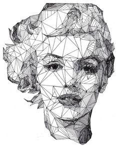 Geometric triangle face Artwork by Josh Bryan.