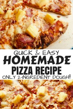 Low Unwanted Fat Cooking For Weightloss Homemade Pizza Recipe With Foolproof 2 Ingredient Dough 2 Ingredient Pizza Dough, 2 Ingredient Recipes, Quick Easy Meals, Healthy Dinner Recipes, Yummy Recipes, Vegetarian Recipes, Healthy Food, Dessert Recipes, Easy Homemade Pizza