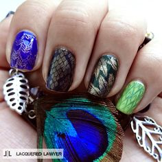 Lacquered Lawyer: Scales and Feathers via @lacqueredlawyer #nailart