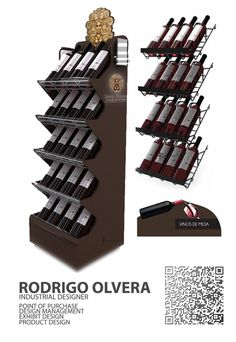 SANTA HELENA WINE DISPLAY , WINERY DISPLAY DISPLAY DESIGN  POINT OF PURCHASE  EXHIBIT DESIGN  PUNTO DE VENTA  EXHIBIDOR   RODRIGO OLVERA