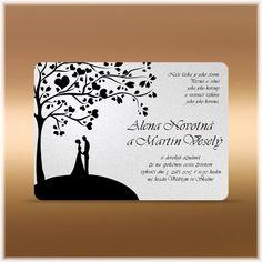 Svatební oznámení strom pár
