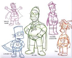 The Art of the Simpsons: 40+ Original Model Sheets