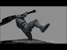 Frank 2Hand LightCombo2 Concept - YouTube Animation Stop Motion, Animation Reference, 3d Animation, 3d Character, Character Concept, Robot Art, Robots, Robot Technology, Found Object Art