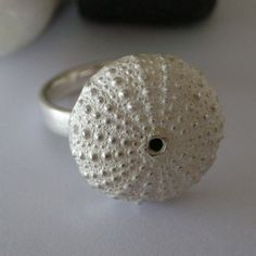 sea urchin ring in sterling silver by parisottodesign on Etsy, $215.00