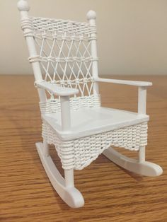Rocking chair for my miniature house Rocking Chair, Miniatures, House, Furniture, Home Decor, Chair Swing, Decoration Home, Home, Room Decor