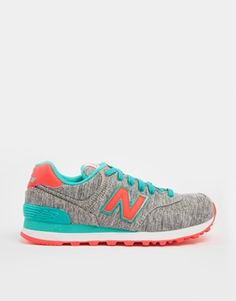 New Balance 574 Textile Turquoise Trainers