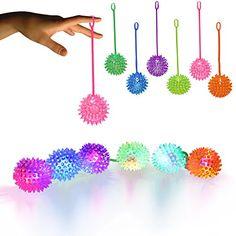 LED Light Up Jelly Spike YoYo Balls Party Favors (12 Pack... http://www.amazon.com/dp/B00EVBBCOC/ref=cm_sw_r_pi_dp_eu4oxb0Q5CW9W