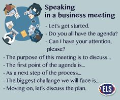 Phrases - Speaking in a Business Meeting
