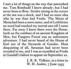 On writing The Lord of the Rings