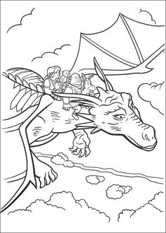 Shrek Tegninger til Farvelægning. Printbare Farvelægning for børn. Tegninger til udskriv og farve nº 101