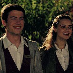 galaxy idiots; — #compilation of clay jensen smiling over hannah...